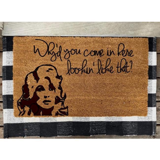 Dolly Parton Design Doormat