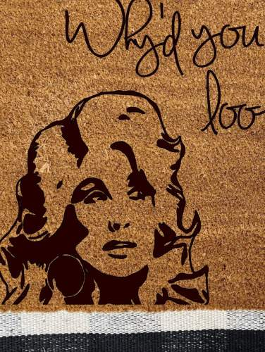 Dolly Parton Design Doormat