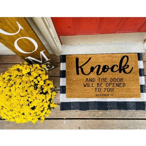 Matthew 7:7 Design Doormat