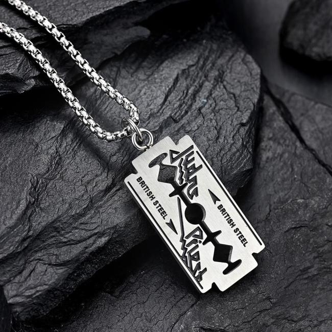 Judas Priest Razor Blade Necklace