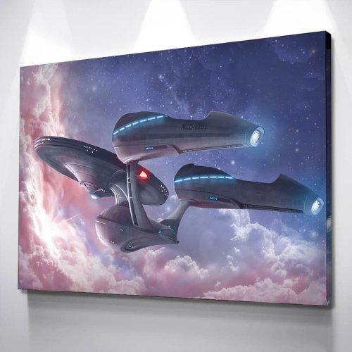 Star Trek NCC 1701 Canvas Art