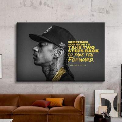 Nipsey Hussle Quote Canvas Art