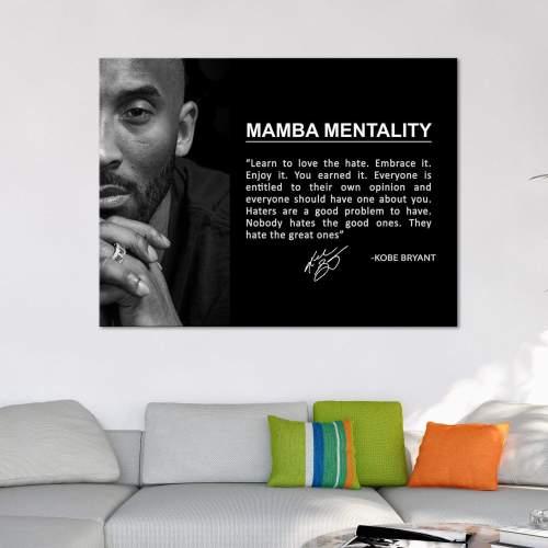 Kobe Bryant Mamba Mentality Canvas Wall Art