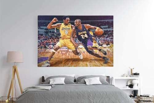 Kobe Bryant no. 8 vs Kobe Bryant No.24 Canvas Wall Art