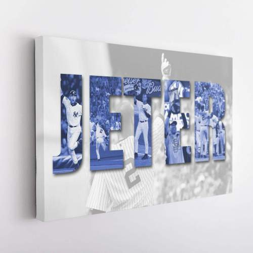 Derek Jeter New York Yankees Canvas Wall Art