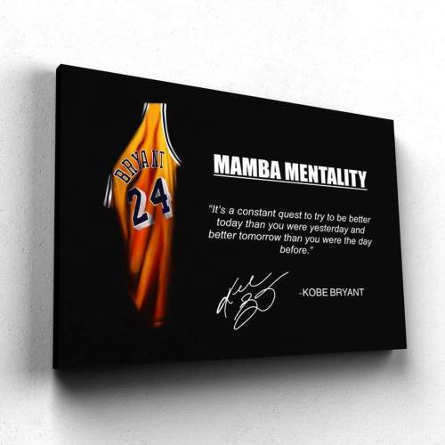 Kobe Bryant No.24 Mamba mentality Canvas Wall Art