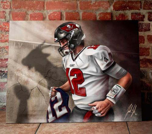 NFL Tom Brady Canvas Art