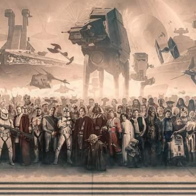 Star Wars Panorama Print Canvas Art