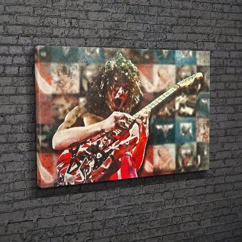 Eddie Van Halen Watercolour Canvas Wall Art