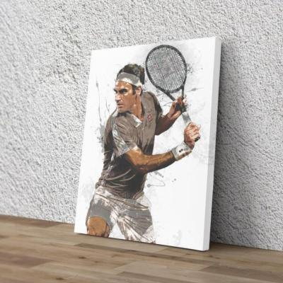 Roger Federer Poster Tennis player Canvas Print