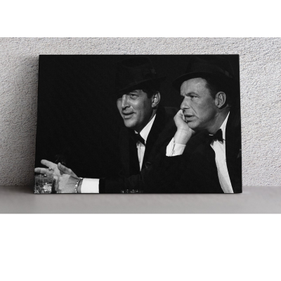 Frank Sinatra Dean Martin Poster Wall Art Canvas Print