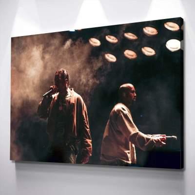 Kanye West Travis Scott Poster Canvas Wall Art