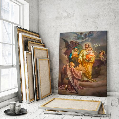 Joseph, Patron of the Church Canvas Wall Art
