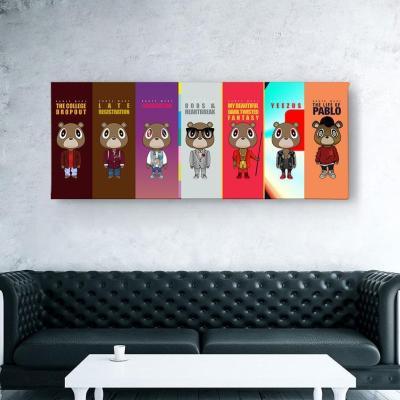 Kanye West Albums Poster Canvas Wall Art-V1