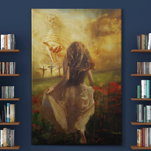 Jesus - Run to the beautiful world Canvas Wall Art