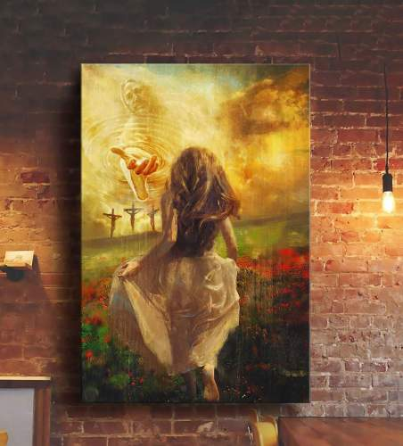 Jesus - Run to the beautiful world Canvas Wall Art
