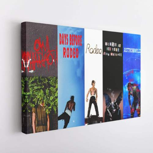 Travis Scott Albums Poster Canvas Wall Art