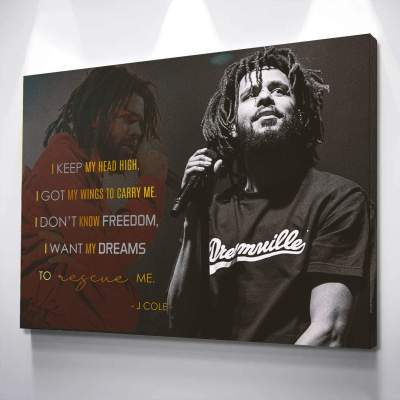 J Cole Poster Wall Art