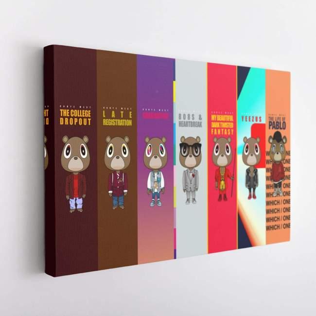 Kanye West Albums Poster Canvas Wall Art-V2