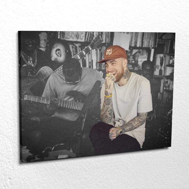 Mac Miller Laughing Canvas Wall Art