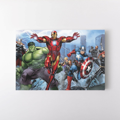 The Avengers Marvel Iron Man Hulk Captian America Wall Art Canvas Print