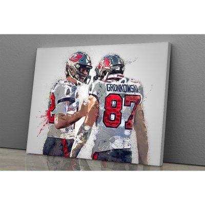 Rob Gronkowski, Tom Brady Canvas Wall Art