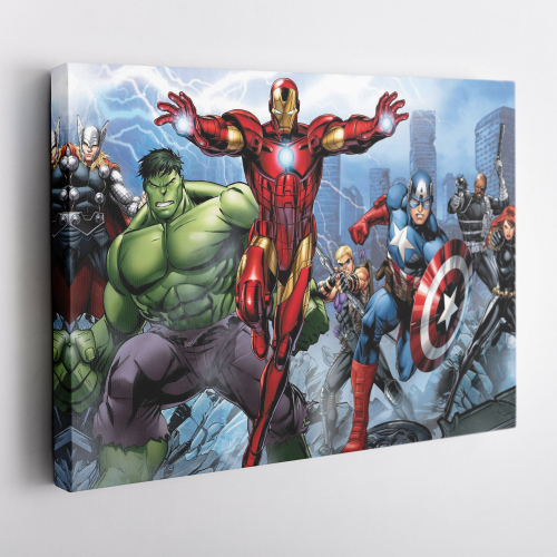 The Avengers Marvel Iron Man Hulk Captian America Wall Art Canvas Print
