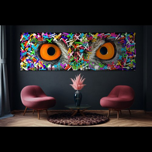 OWL EYES Canvas Art
