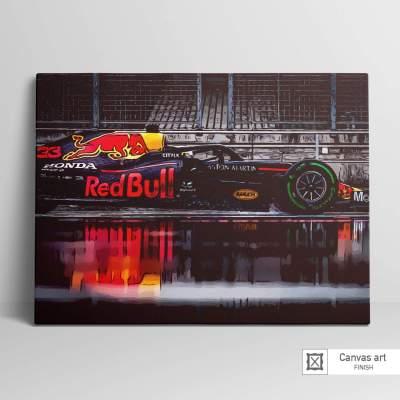 Max Verstappen F1 Formula One Canvas Wall Art