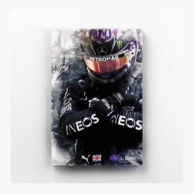 Lewis Hamilton Mercedes F1 Canvas Wall Art