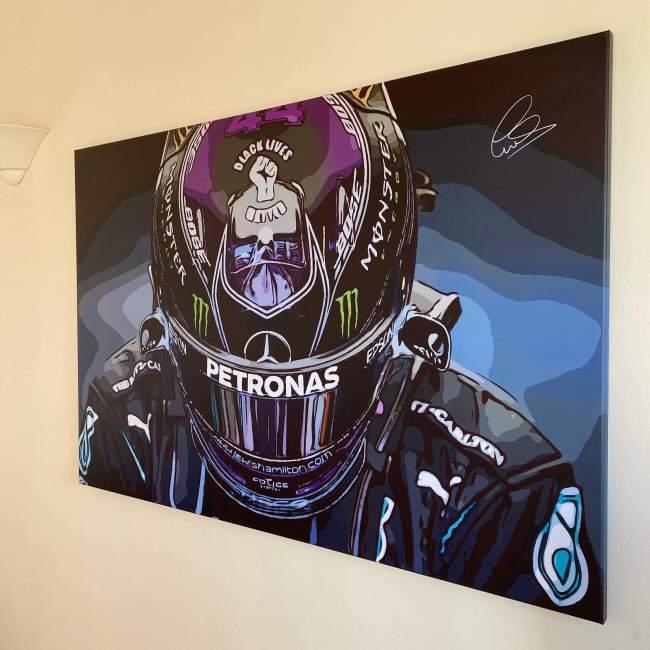 LEWIS HAMILTON F1 Formula One Canvas Wall Art