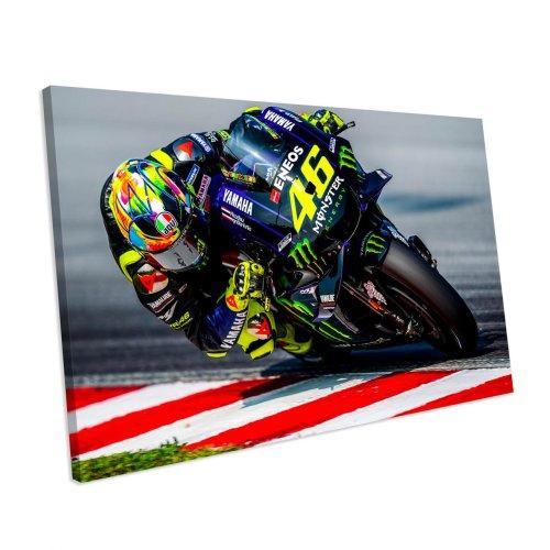 Valentino Rossi MotoGP Sport Canvas Wall Art
