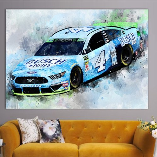 Kevin Harvick NASCAR Racing Canvas Wall Art