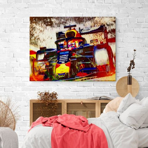 Max Verstappen Silly season 2020 Canvas Wall Art