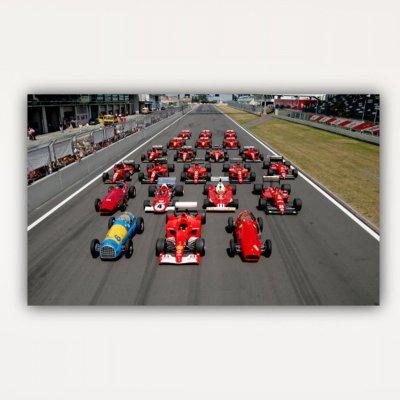 History of F1 Formula One Racing Cars-Canvas Wall Art