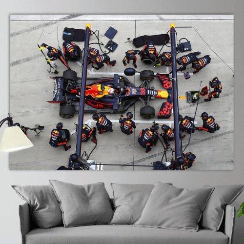 Max Verstappen Verstappen Pit Stop - Formula 1Canvas Wall Art