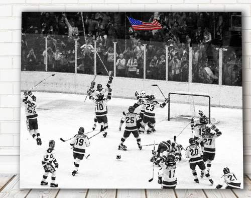 US Winter Olympic Hockey - Miracle on Ice - Canvas Wall Art