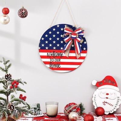 American Flag Wooden Decorative Plaque