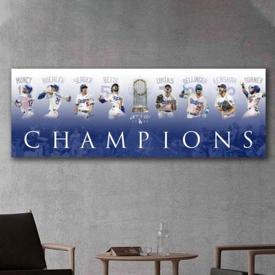 Los Angeles Dodgers World Series Champs Canvas Wall Art
