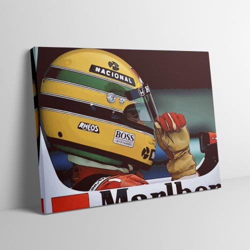 Ayrton Senna F1 Formula One fine Art canvas Wall Art