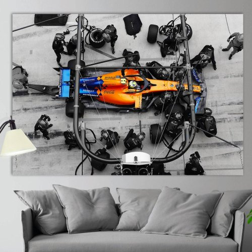 Lando Norris F1 McLaren Canvas Wall Art