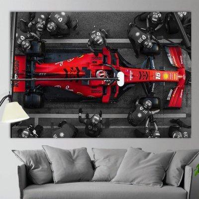 Charles Leclerc Canvas Print, Formula 1 Canvas, Ferrari Wall Art