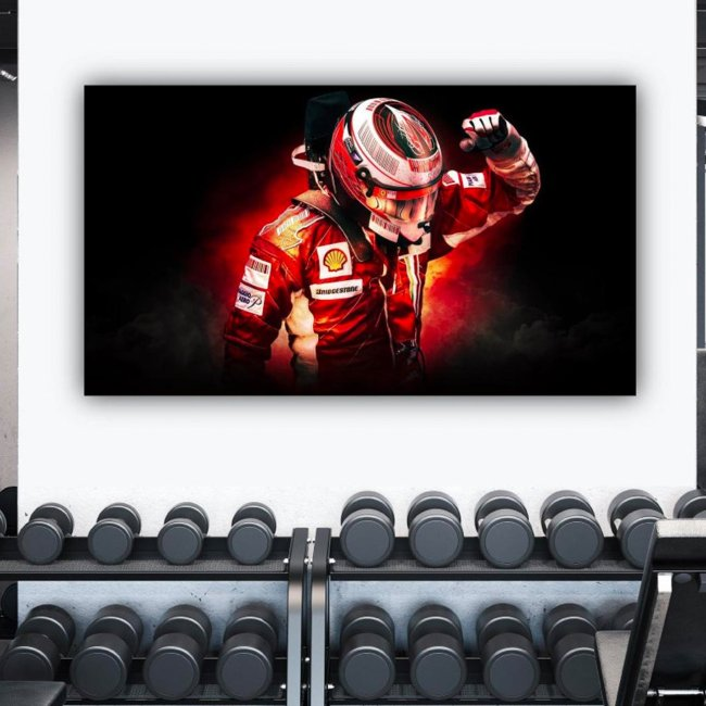 F1 Legend Kimi Raikkonen Canvas wall art