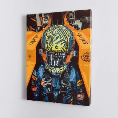 LANDO NORRIS F1 Formula One Canvas Wall Art