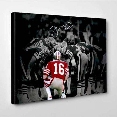 San Francisco 49ers Joe Montana Canvas Wall Art