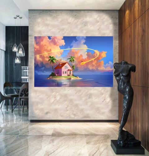 Kame House - Dragon Ball Z Inspired Wall Art