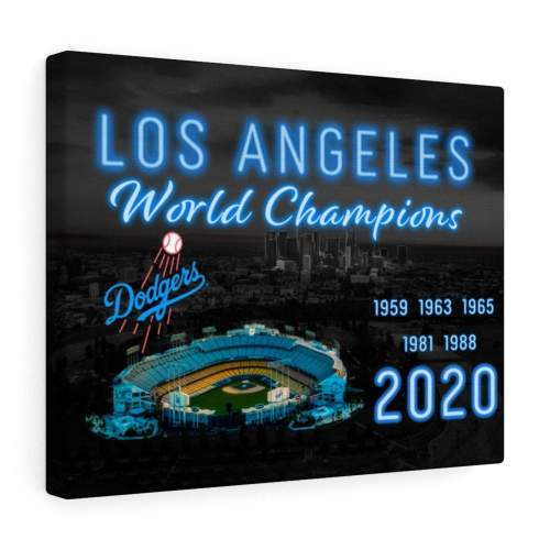 LA Dodgers World Championship Canvas Wall Art, 2020 World Series Champs