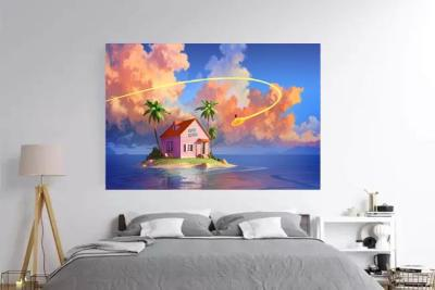 Kame House - Dragon Ball Z Inspired Wall Art