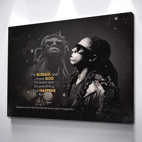 Lil Wayne Lyric Canvas Wall Art