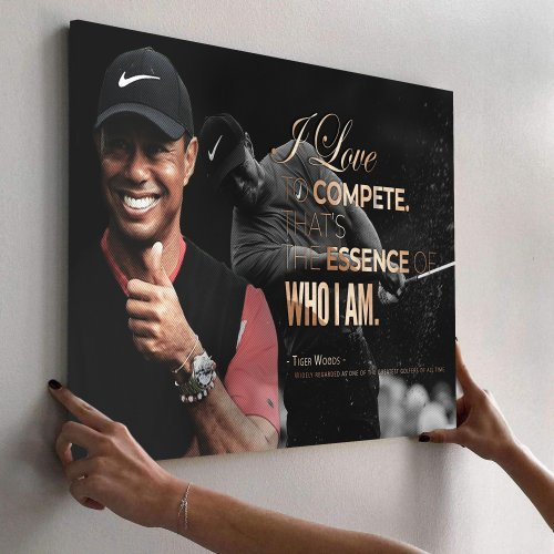 Tiger Woods Golf Masters Canvas Wall Art